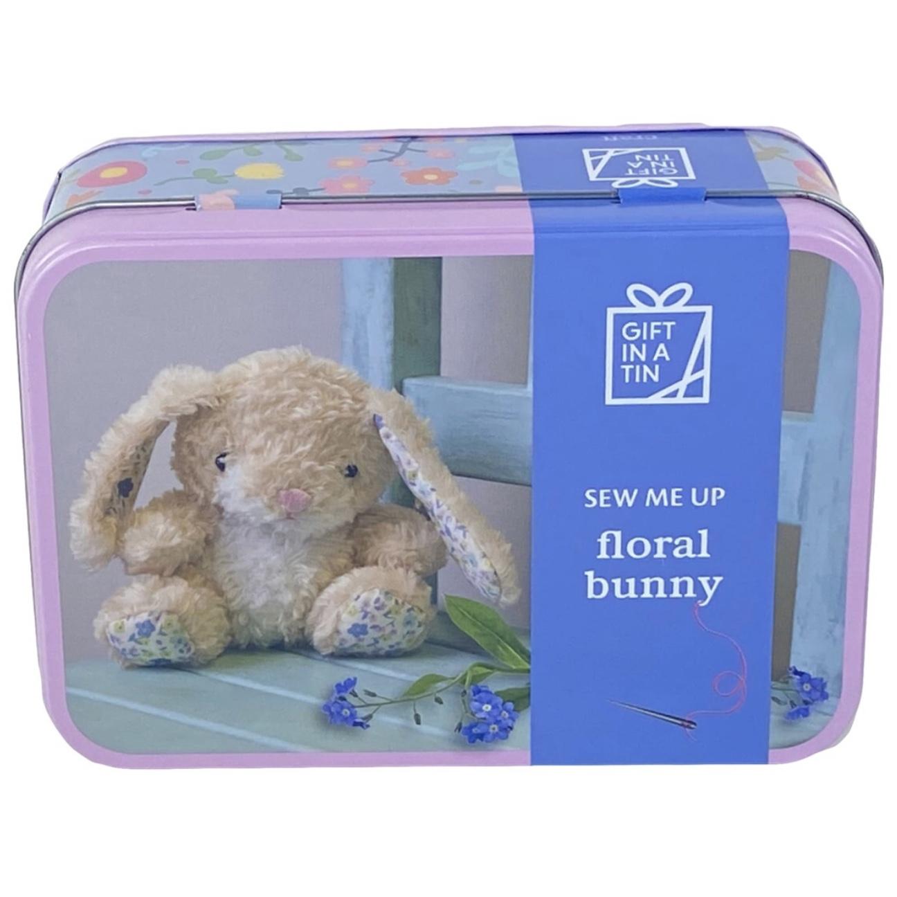 Floral Bunny Tin