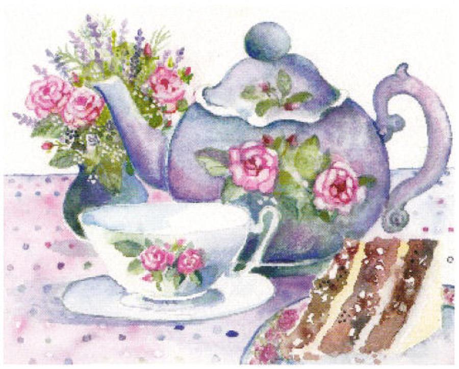 'Afternoon Tea' Furzedown Gallery Mini Card