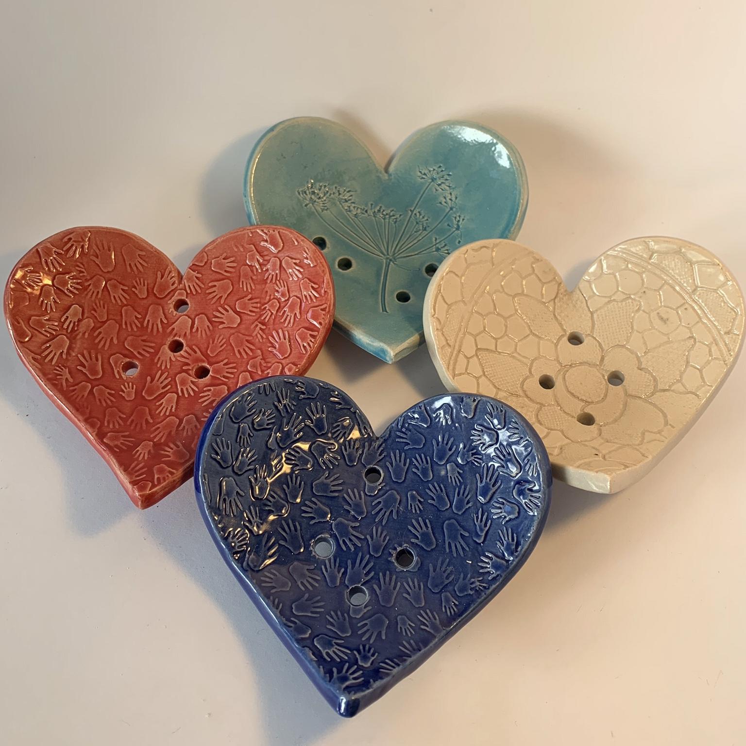 Ceramic Heart Soap Dish