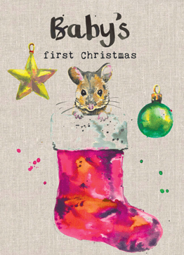 'Baby's First Christmas' Splashy Animals Card