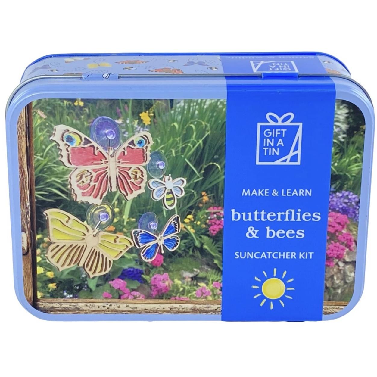 Butterflies & Bees Suncatcher Tin