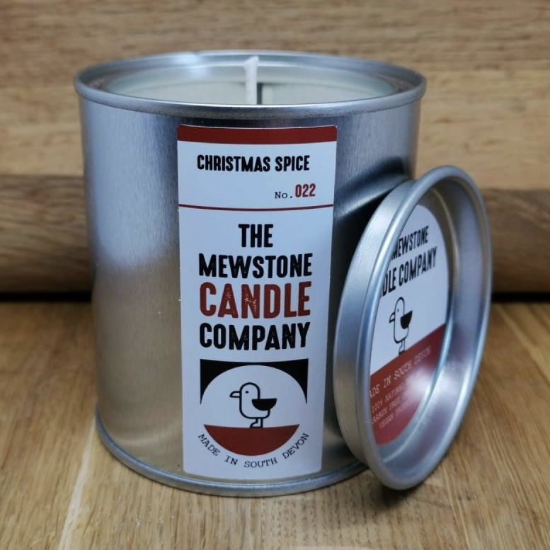 'Christmas Spice' Mewstone Paint Tin Candle