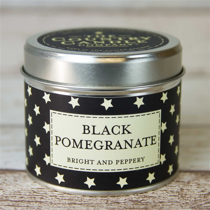 'Black Pomegranate' Candle in a Tin