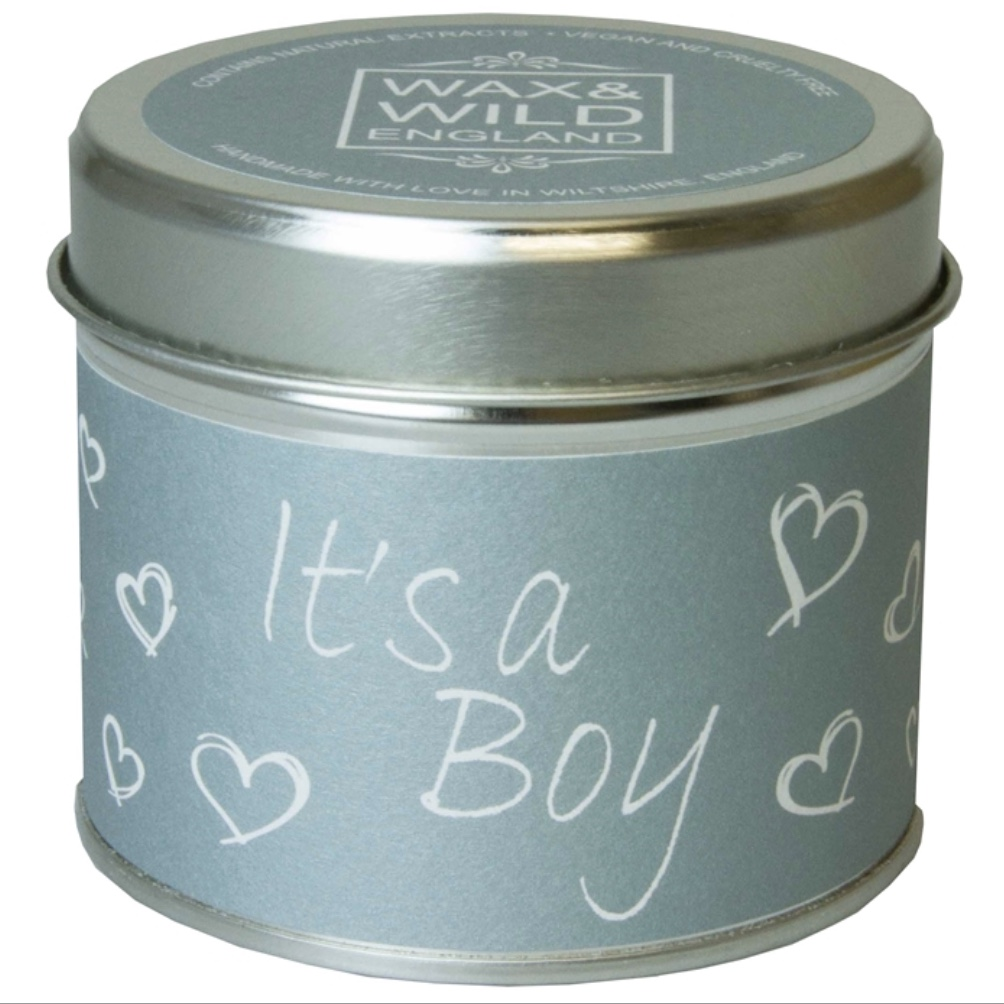 'It's a Boy' Sentiments Candle in a Tin
