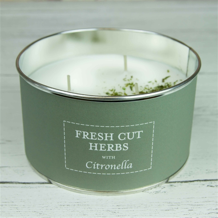 'Fresh Cut Herbs' Triple Wick Candle in a Tin