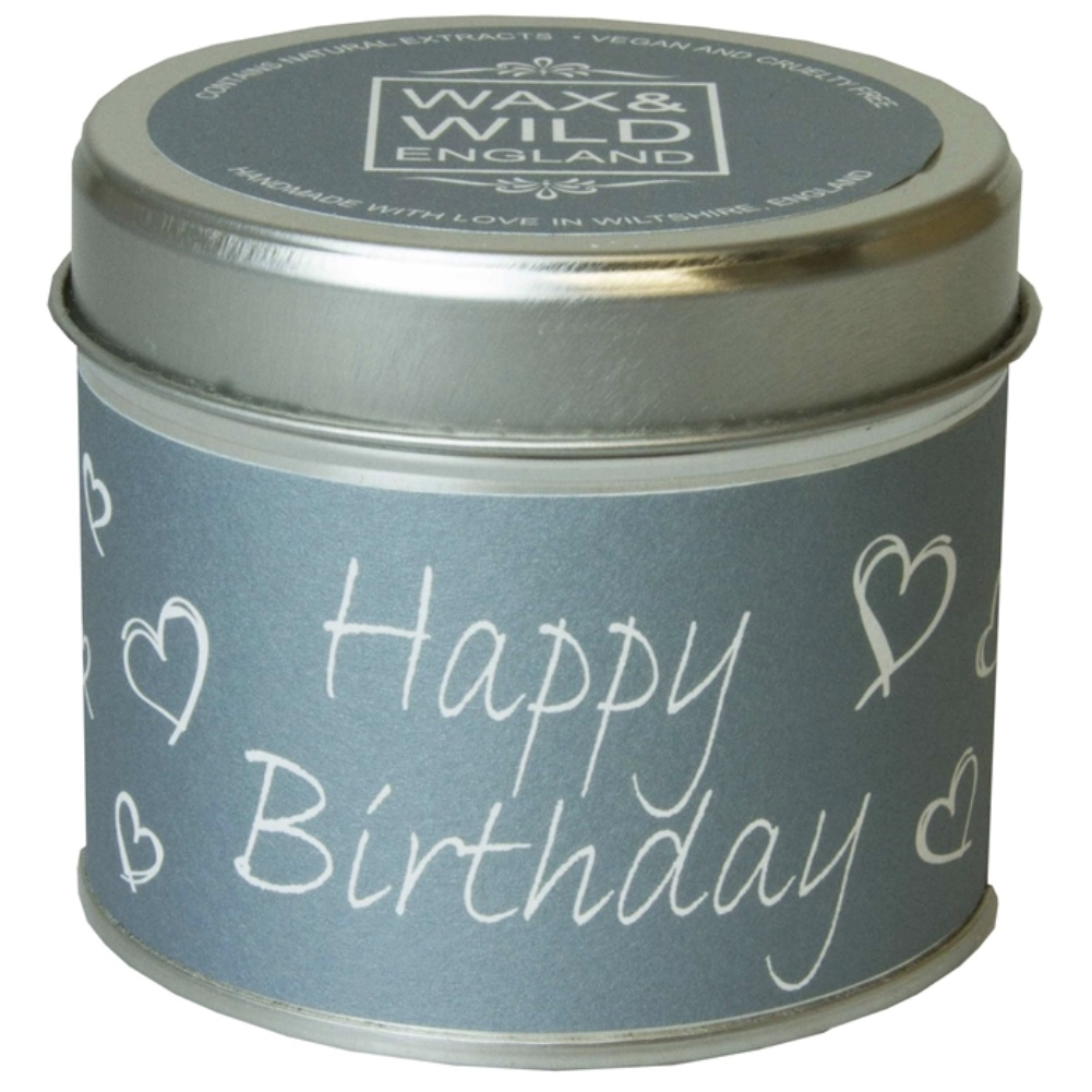 'Happy Birthday' Sentiments Candle in a Tin