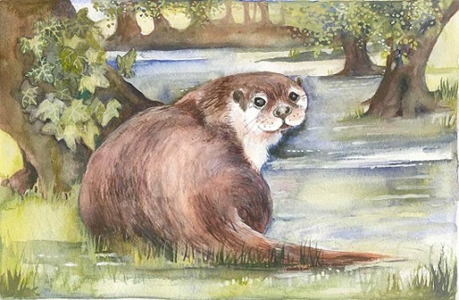 'Otter' Furzedown Gallery Mini Card