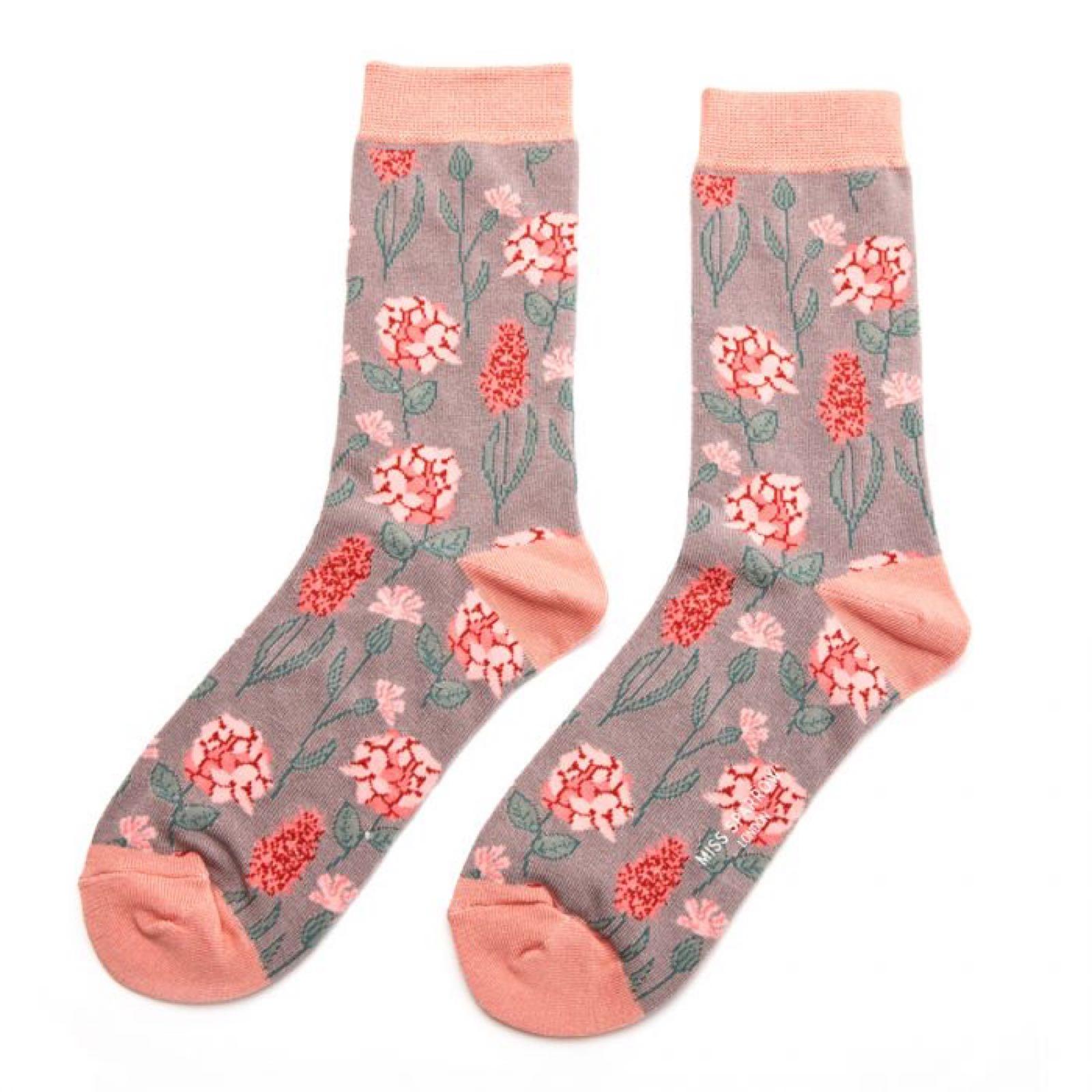 Botany Socks Pink Flower