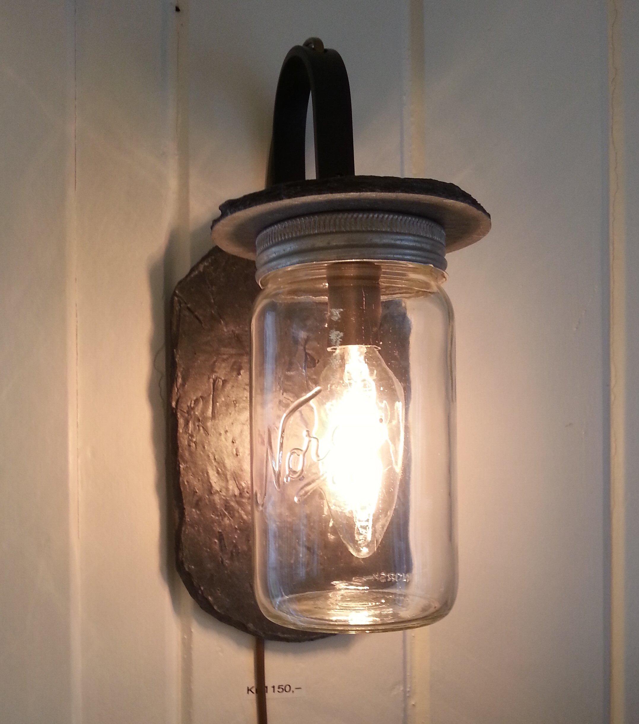 183 Gjennbruk Norgesglasslampe