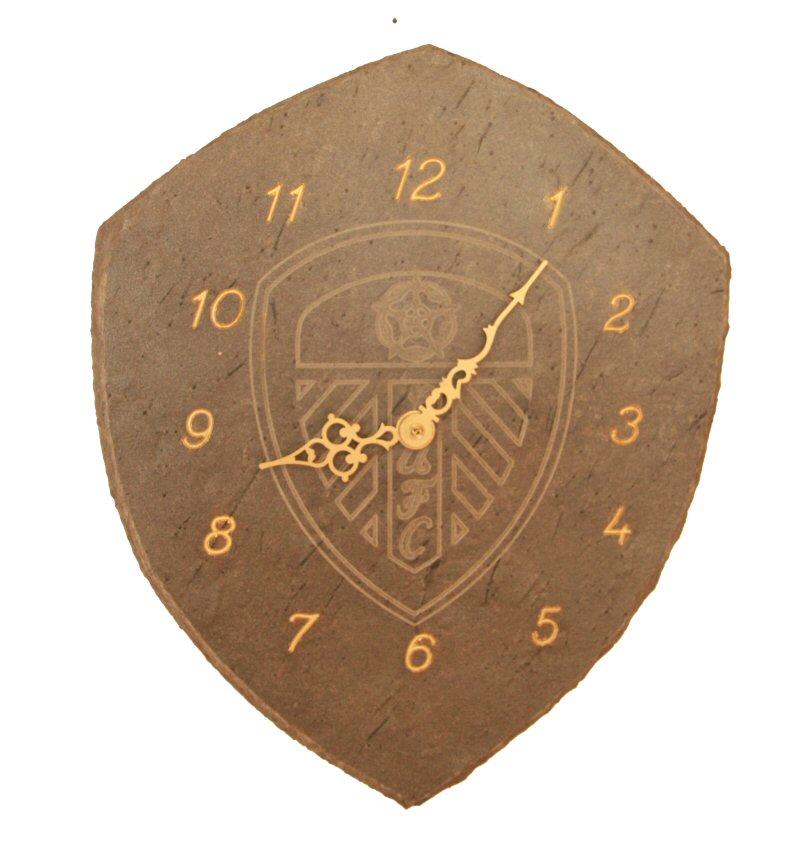 275 Skiferklokke Leeds United Logo