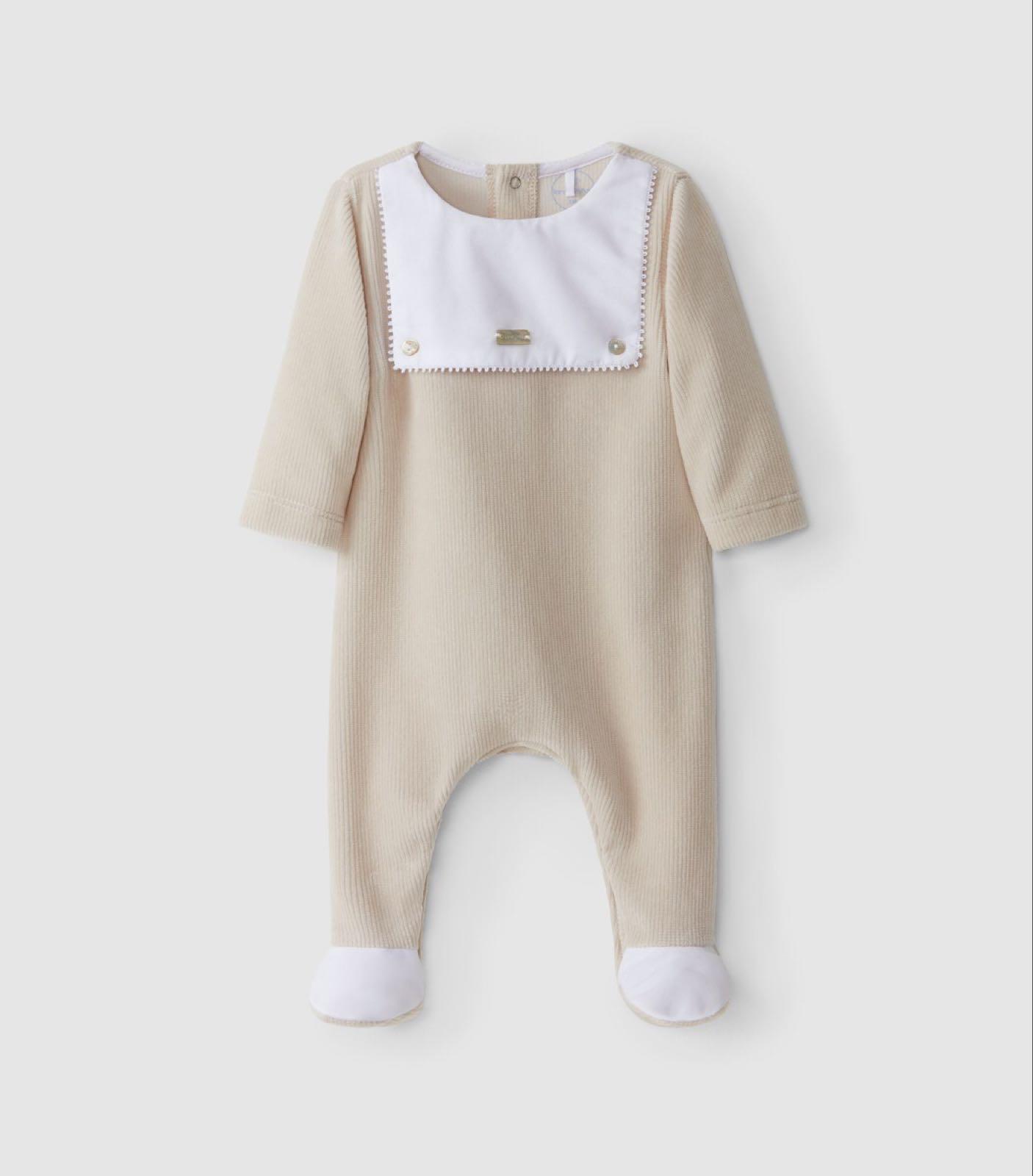 "LARANJINHA BABY Velvet Babygrow ""Laranjinha"" Details 1402-12"