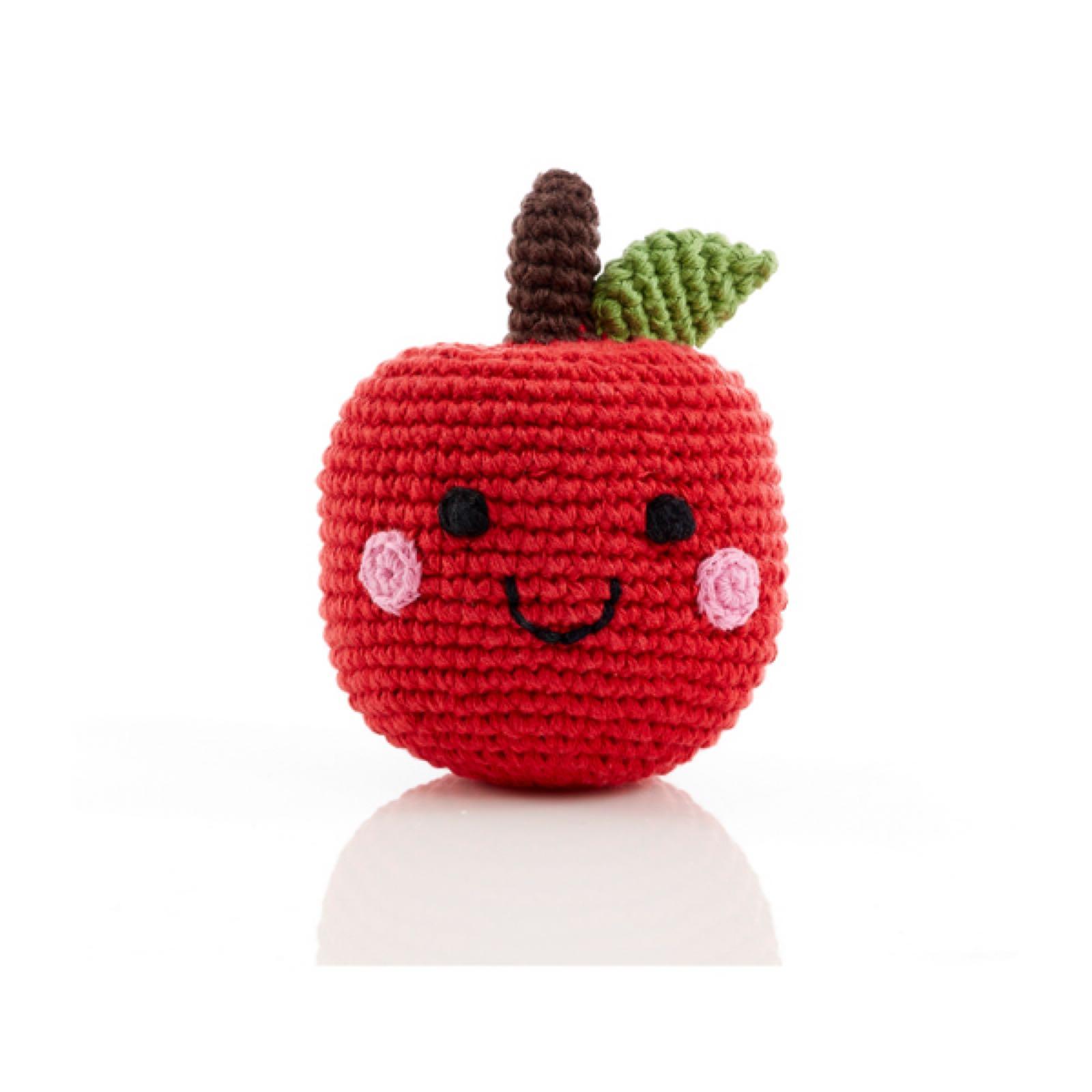 Pebble - Crochet cotton rattle - Apple