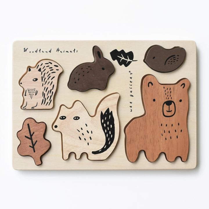 Wee Gallery - Holzpuzzle Woodland Animals