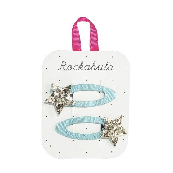 Rockahula - Star Burst Glitter Blue Haarspange