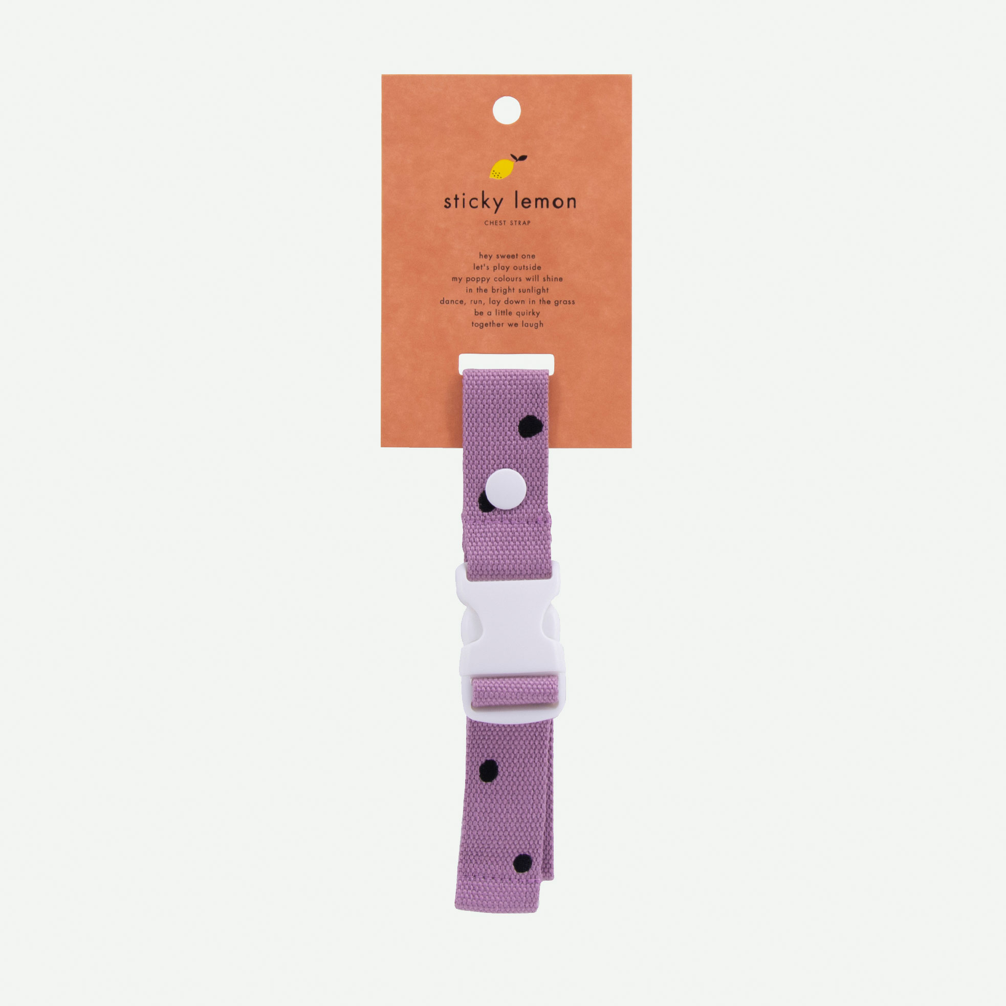 Sticky Lemon - Brustgurt Rucksack Freckles pirate purple