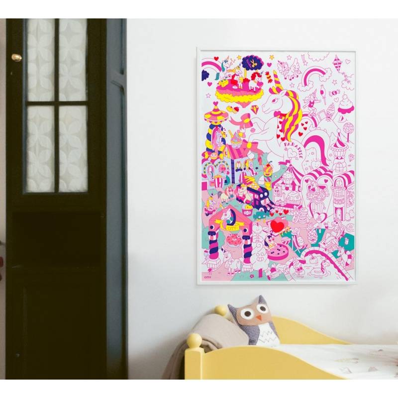 OMY - Giant Coloring Poster Lily