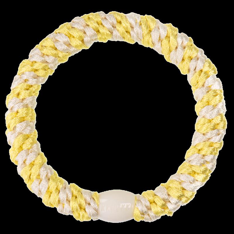 Kknekki - Haargummi Lemon Ivory Stripe