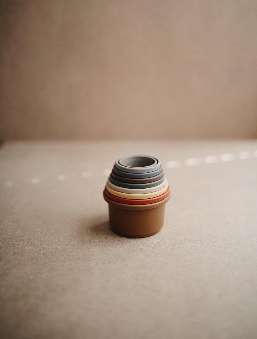 Mushie - Stapelbecher Stacking Cups Retro