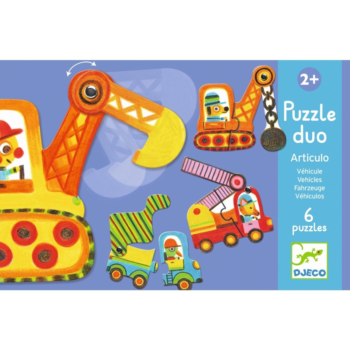 Djeco - Puzzle Duo Fahrzeuge