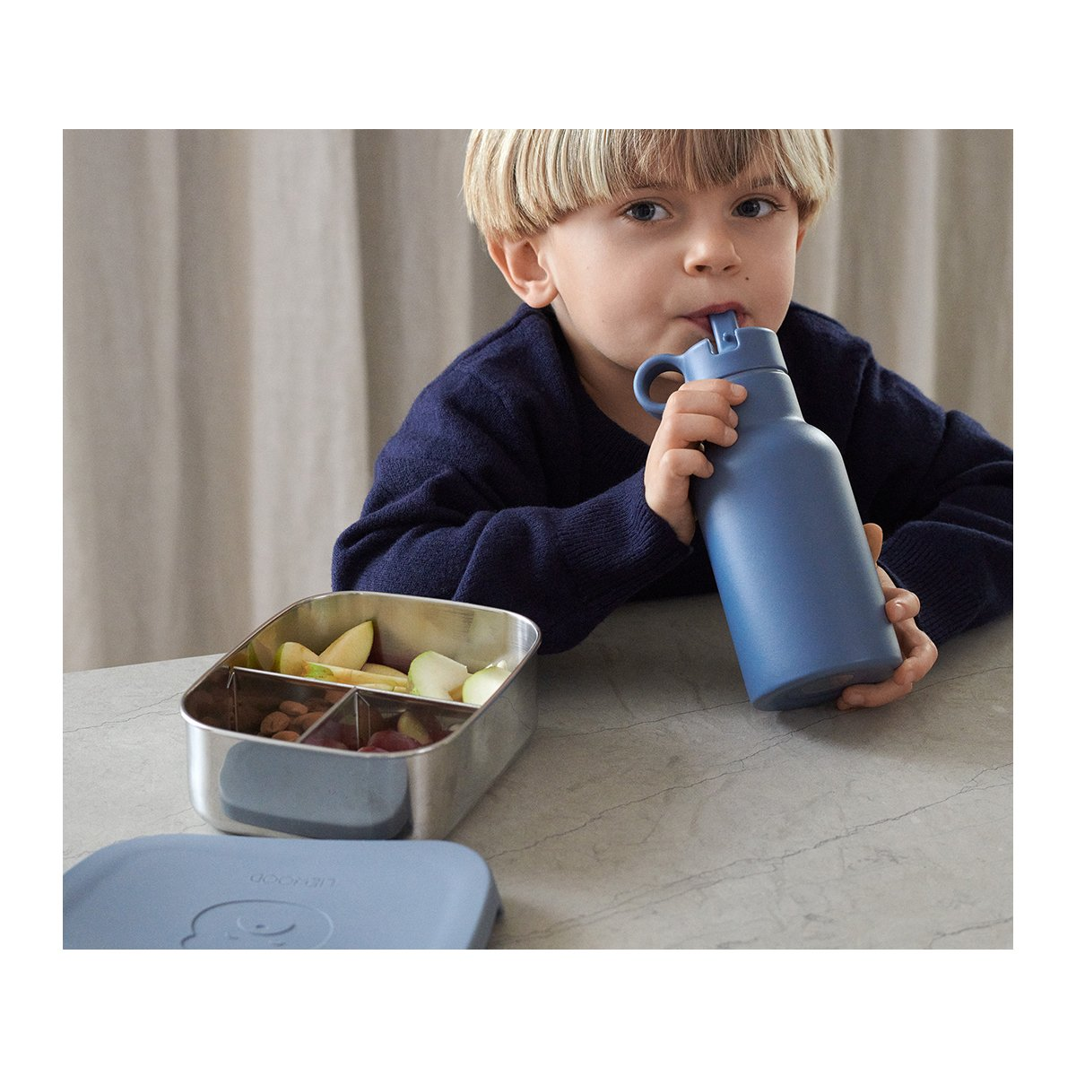Liewood - Joni Lunch Box Set Mr bear & Rabbit blue wave mix