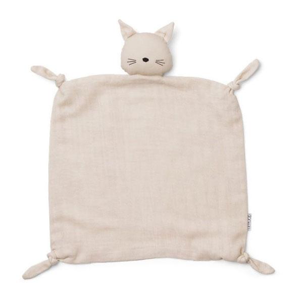 Liewood - Agnete Kuscheltuch Cat beige beauty