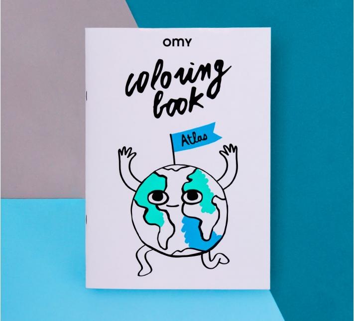 OMY - Ausmalbuch Atlas