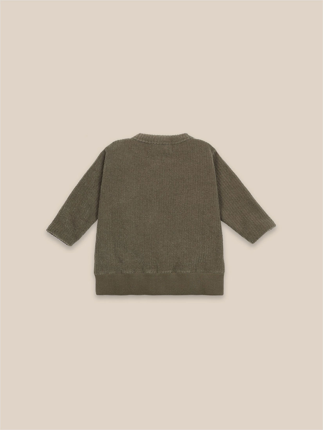 Bobo Choses - Baby Lucky Star Patch Zipped Sweatshirt