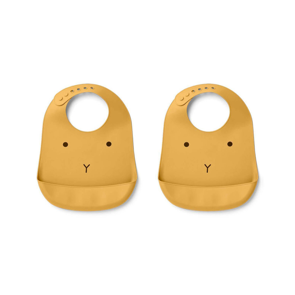 Liewood - Tilda Silikon Bib Set Rabbit yellow mellow