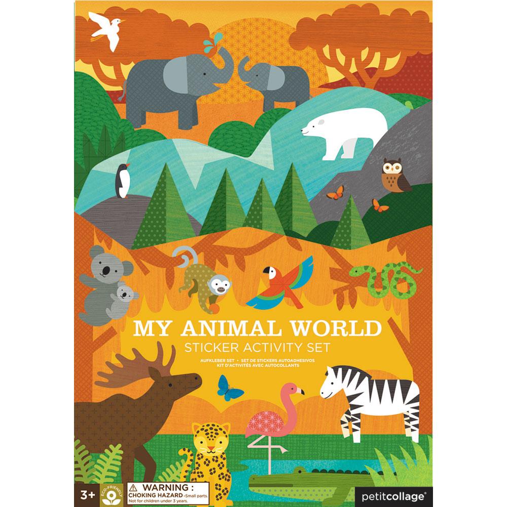 Petit Collage - Stickerbuch Tiere