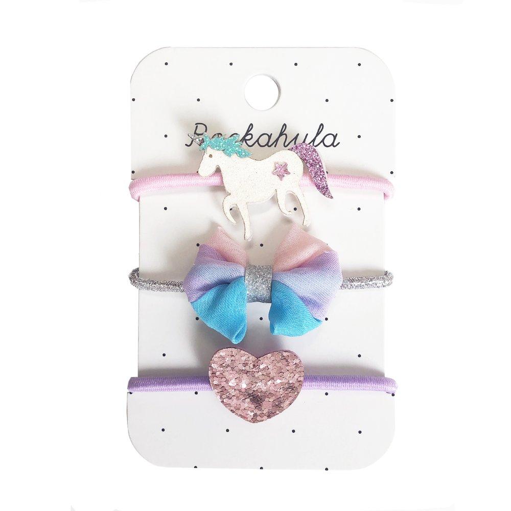 Rockahula - Einhorn Glitter Haargummis