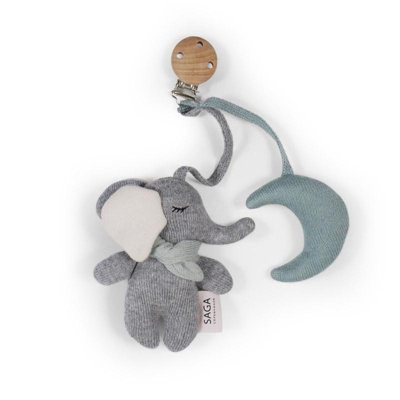 Saga Copenhagen - Kinderwagenanhänger Elefant Cloud Blue
