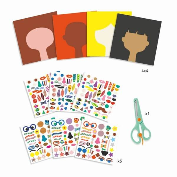 Djeco - Sticker Frisuren