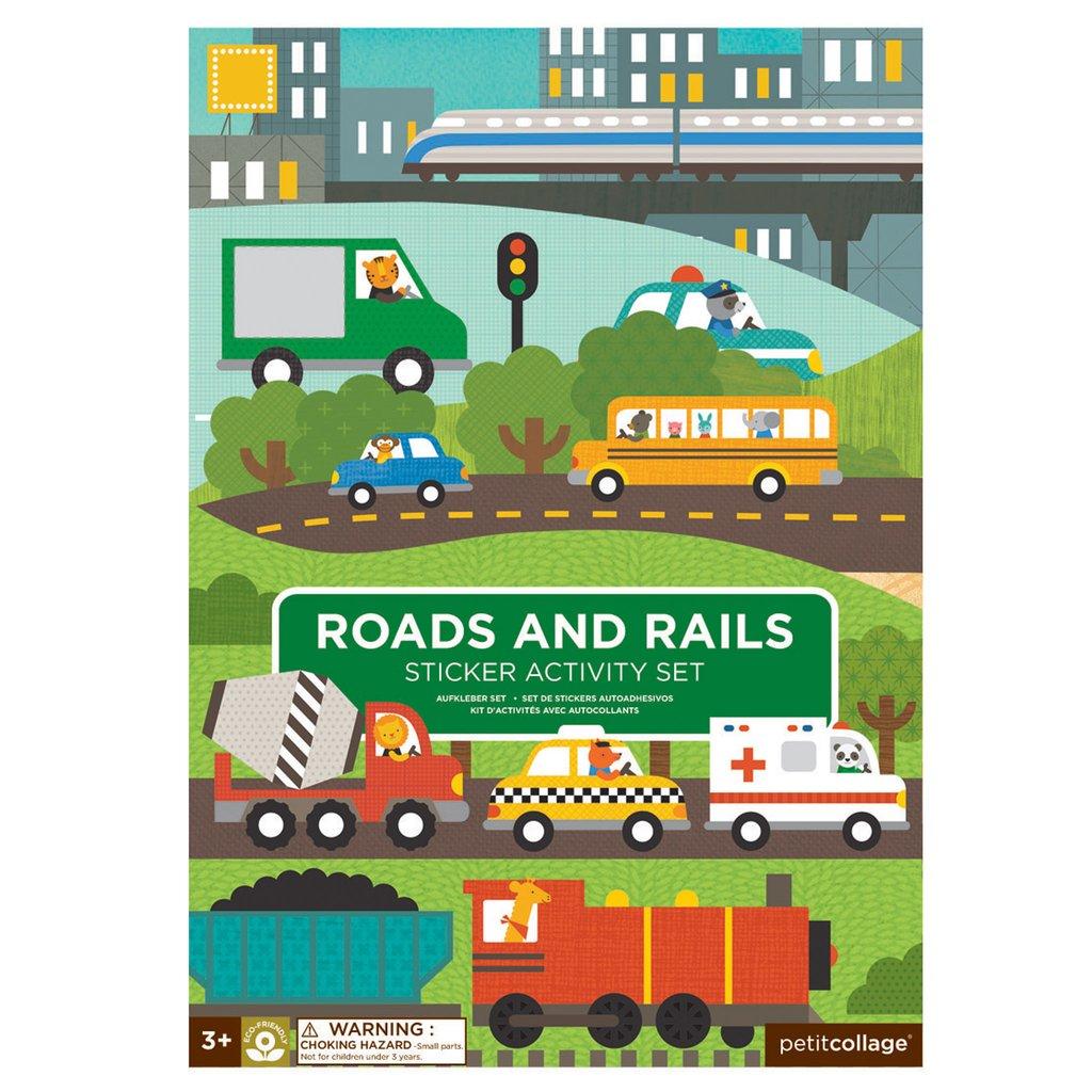 Petit Collage - Stickerbuch Straßen und Schienen