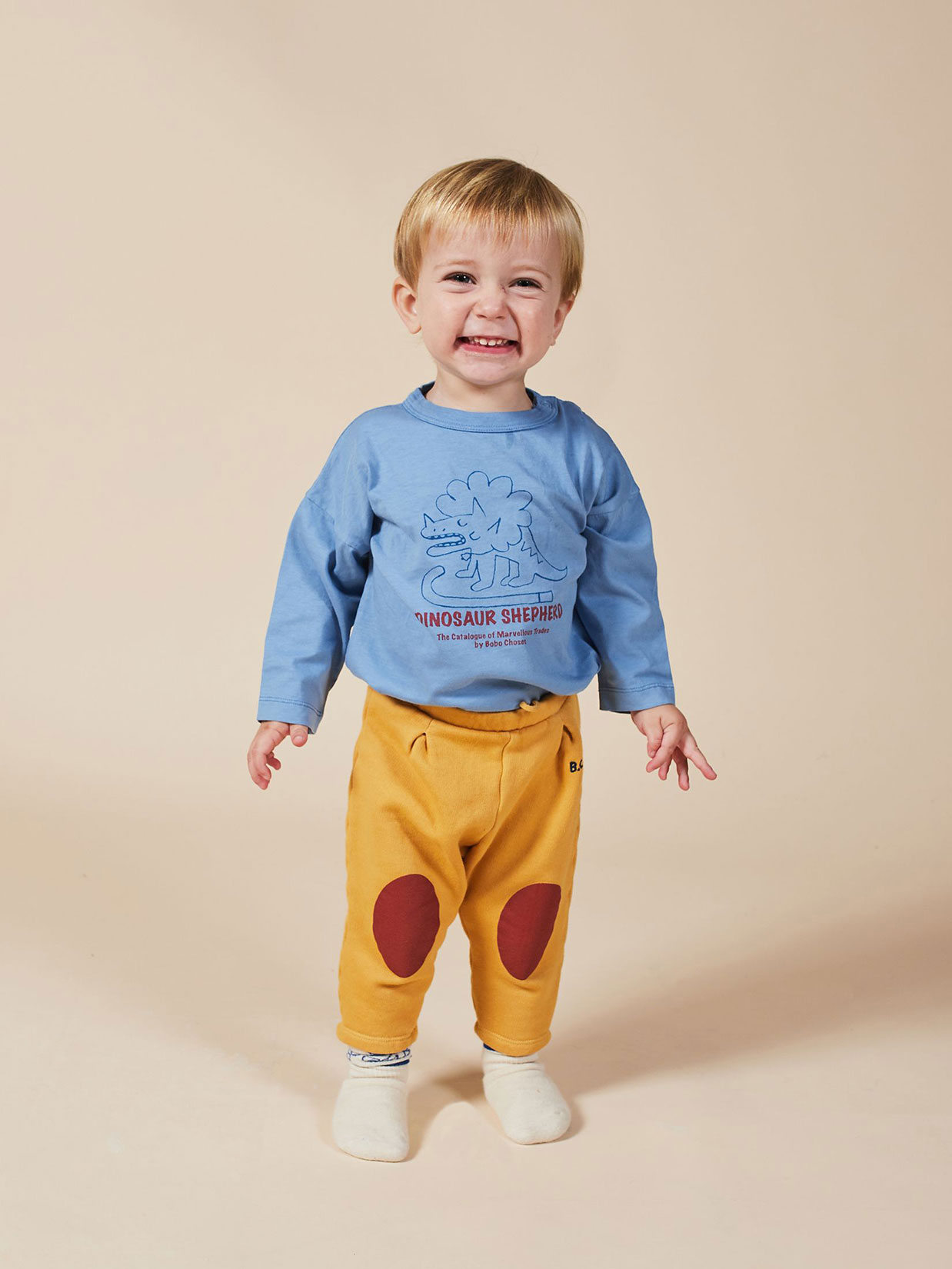 Bobo Choses - Baby Red Patches Jogging Pant