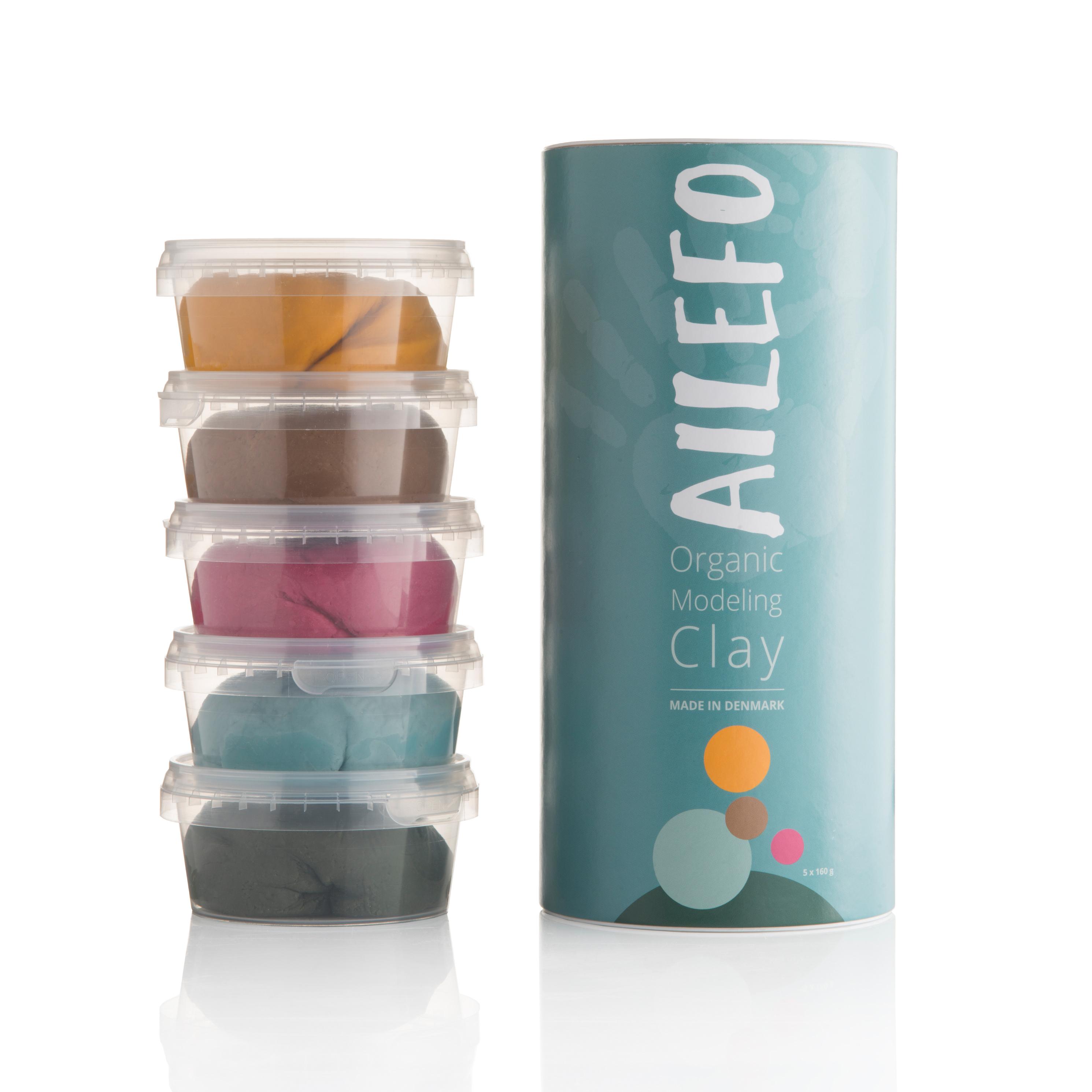 Ailefo - Bio Knete 5er Set groß