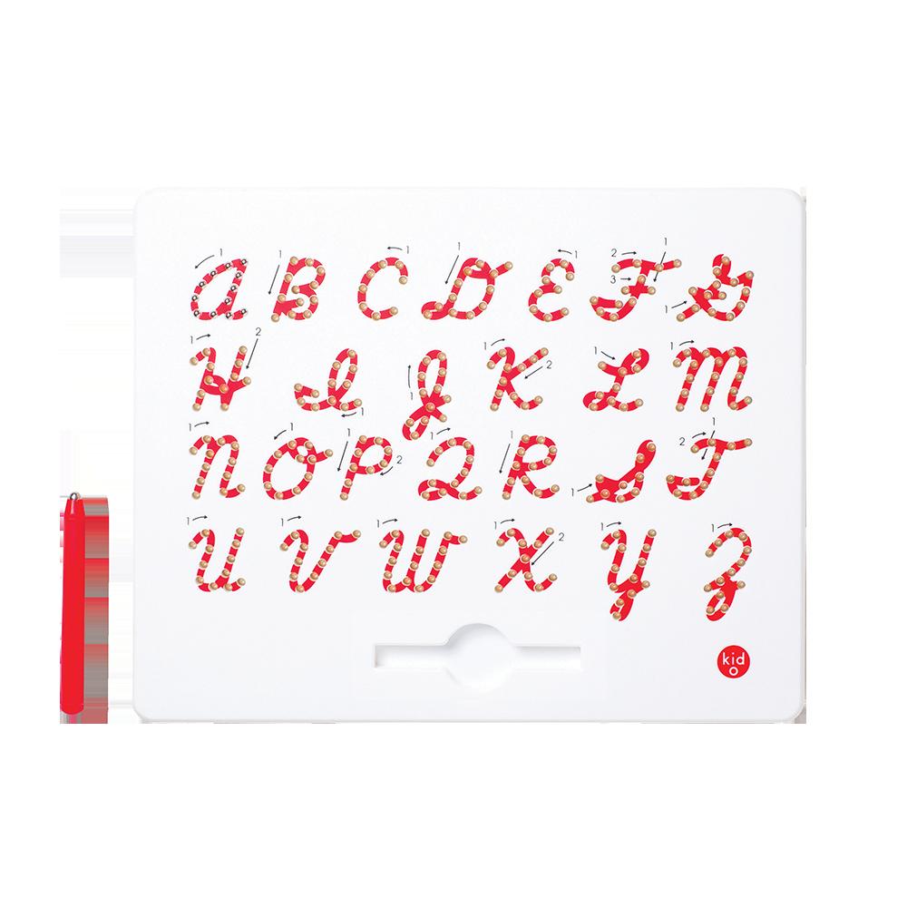 Kid O - A bis Z Großbuchstaben kursiv Magnatab Magnettafel