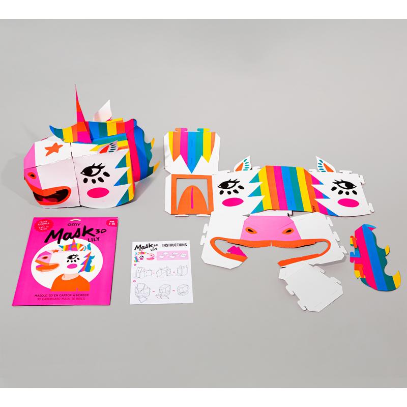 OMY - Lily 3D Einhorn Maske