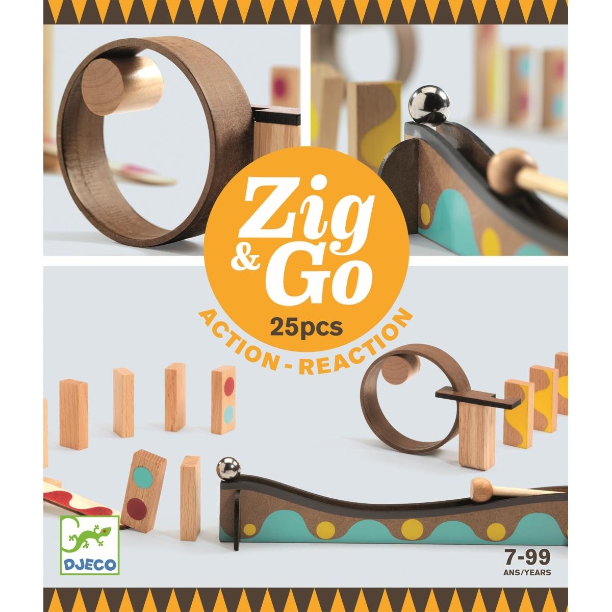Djeco - Zig & Go Murmel - Dominobahn 25 Teile