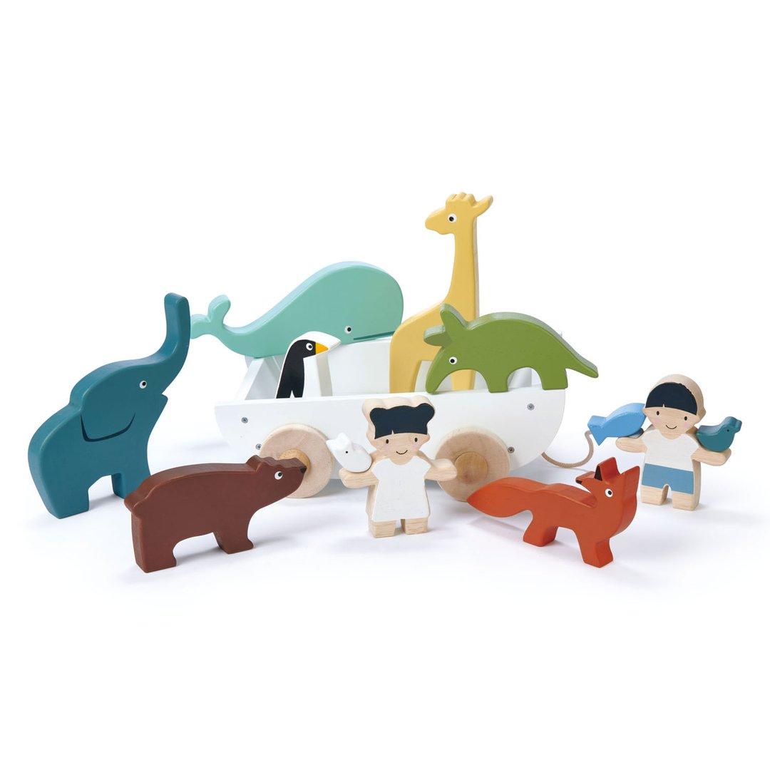 Tender Leaf Toys - Boot mit Tieren