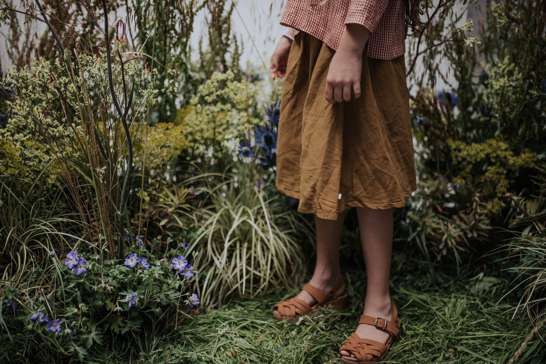 Repose AMS - Midi Skirt Khaki Brown