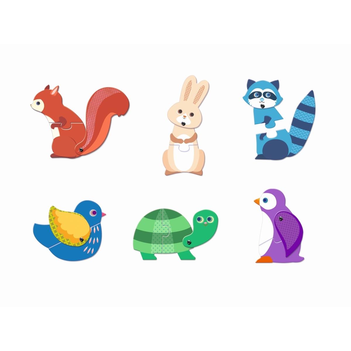 Djeco - Duo Puzzle Tiere