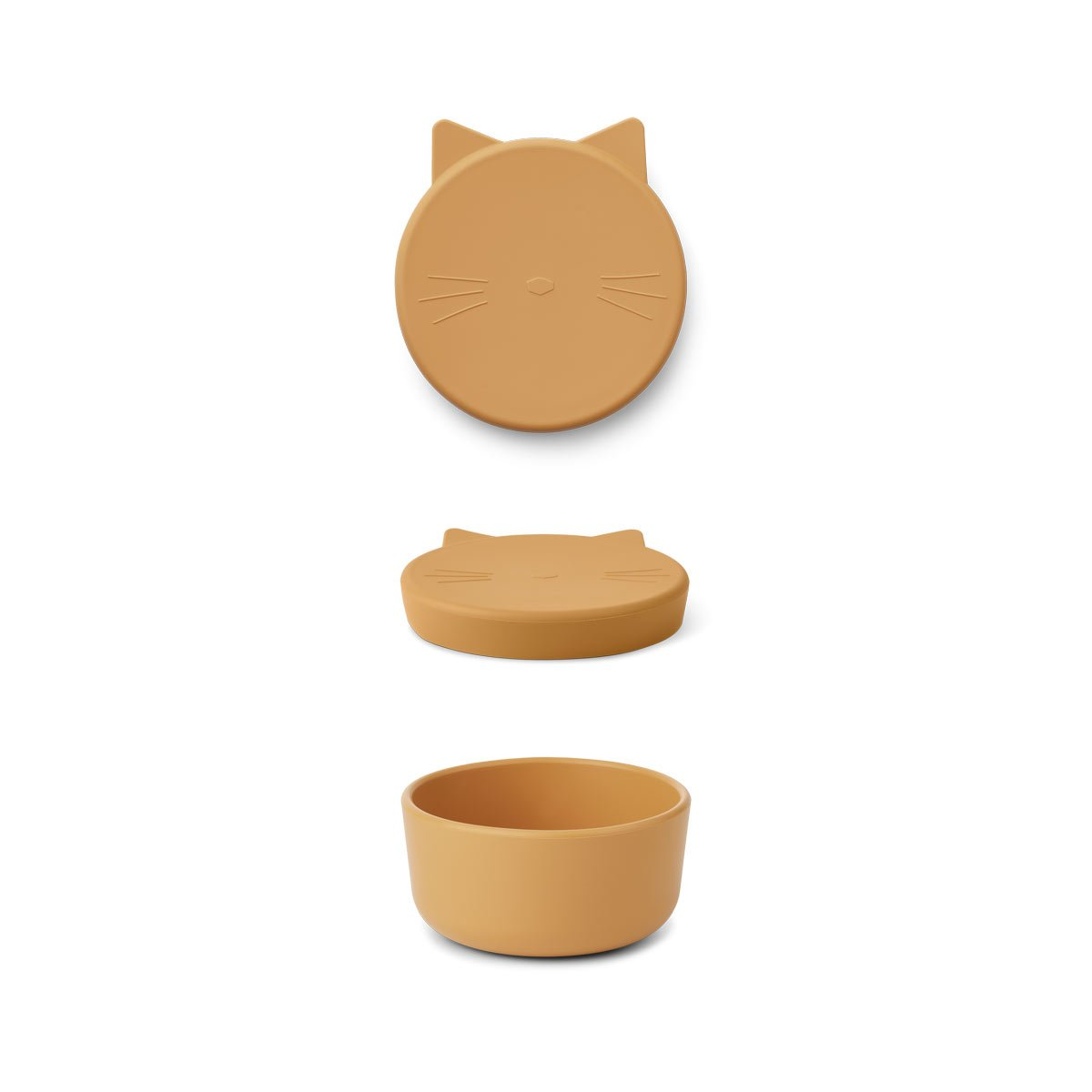 Liewood - Cornelius Snackbox Box Medium Cat yellow mellow