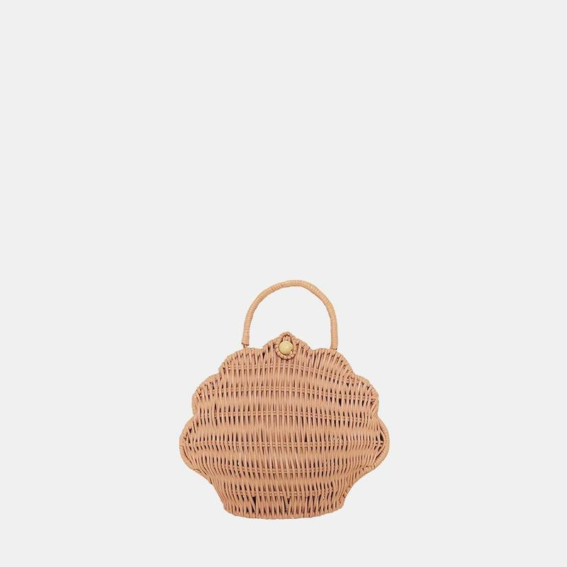 Olli Ella - Rattan Shell Bag Rose