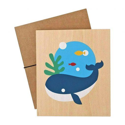 lubulona - Holz Wandbild Wal