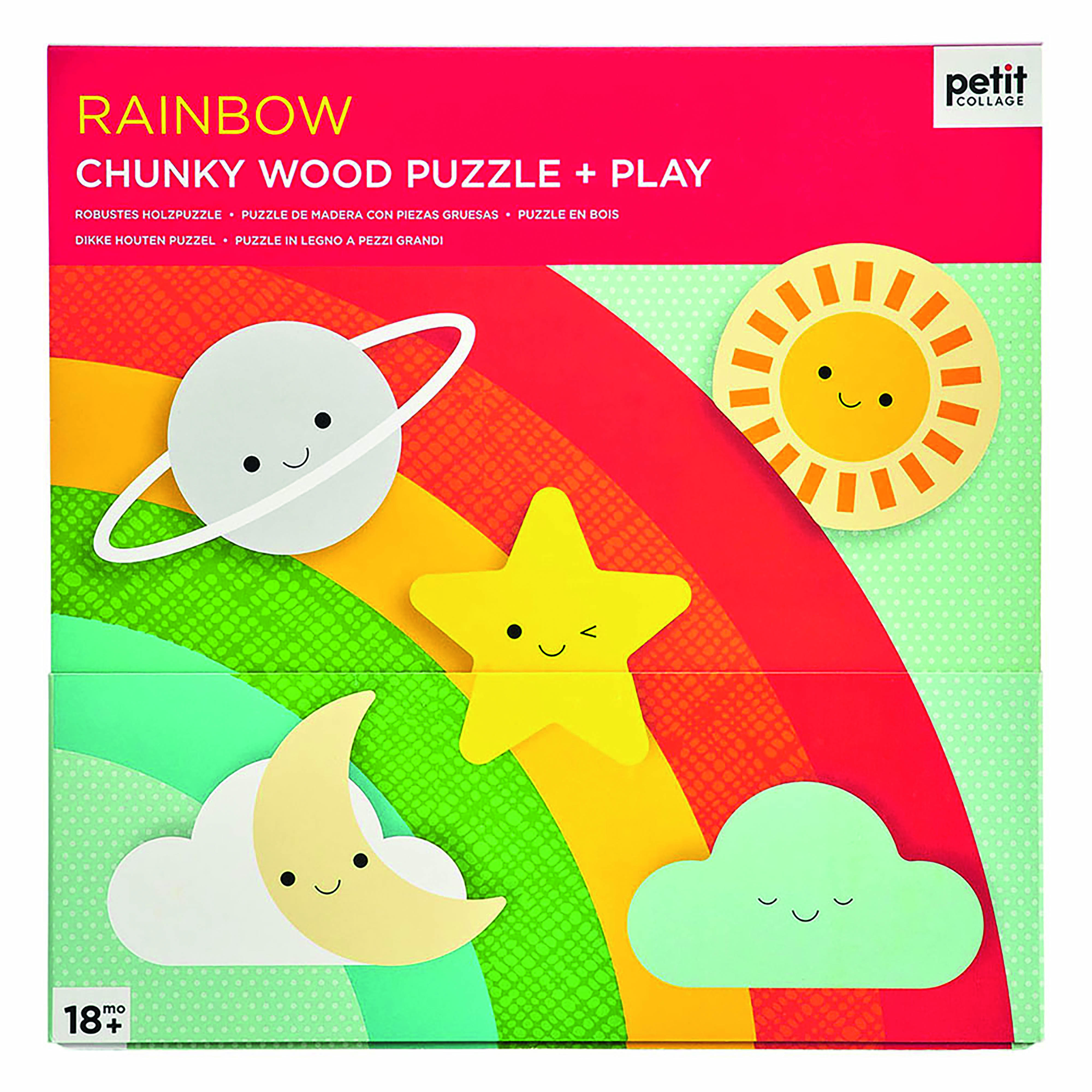 Petit Collage - Chunky Puzzle Regenbogen