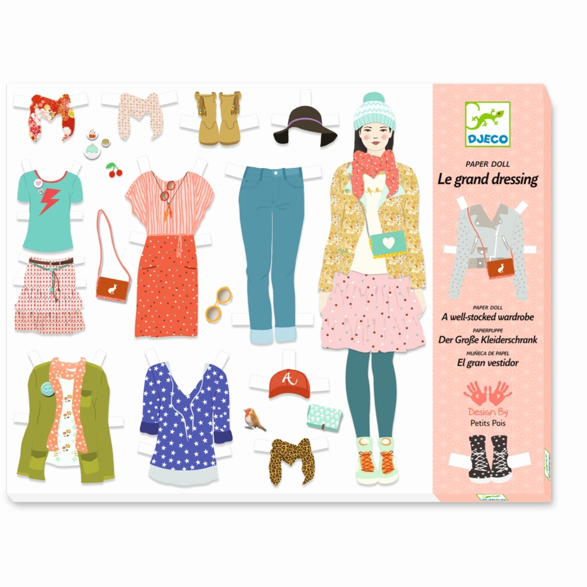 Djeco - Anziehpuppen: Der große Kleiderschrank