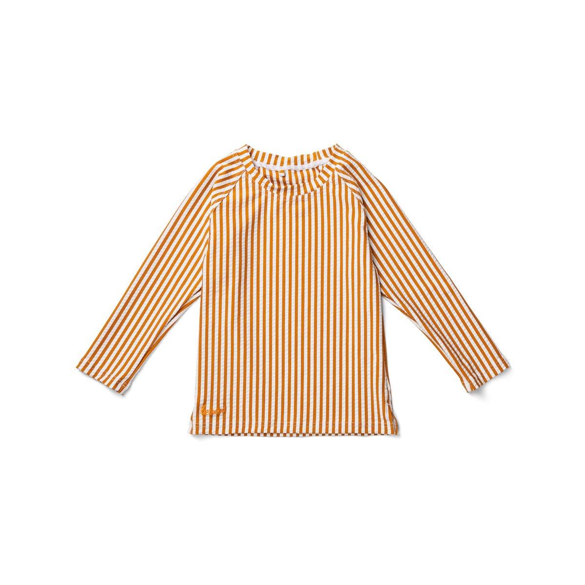 Liewood - Noah Swim Tee Stripe/Mustard