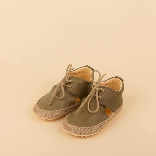 Dulis Shoes - Green Lace-up Sandal