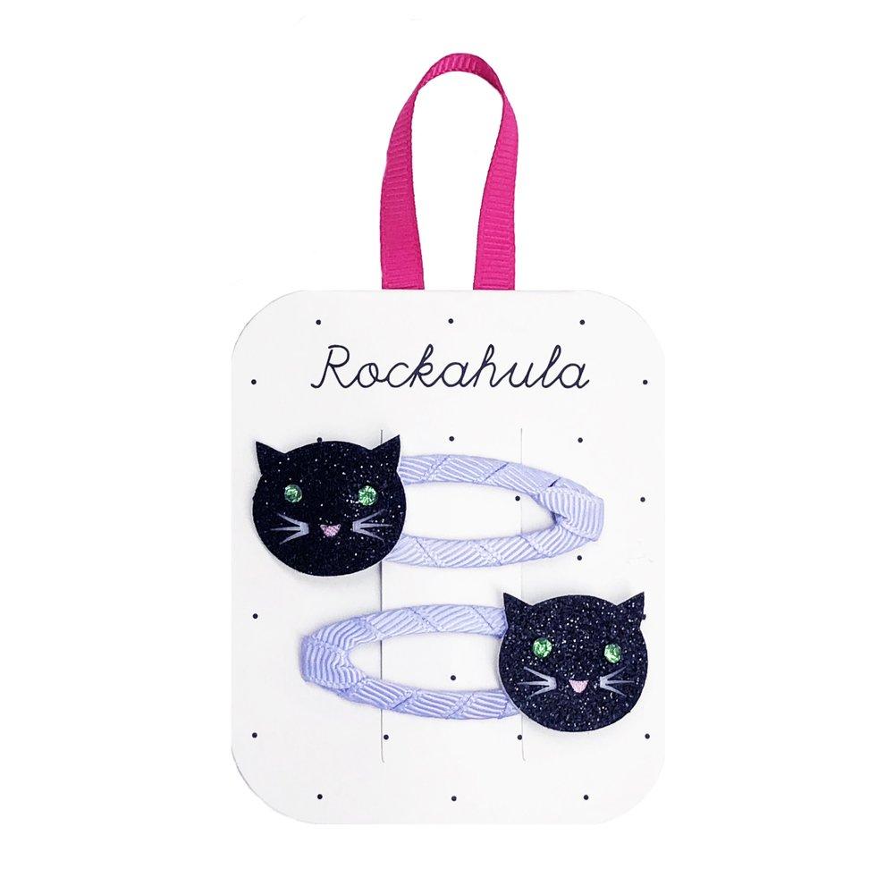 Rockahula - Lucky Black Cat Haarspangen