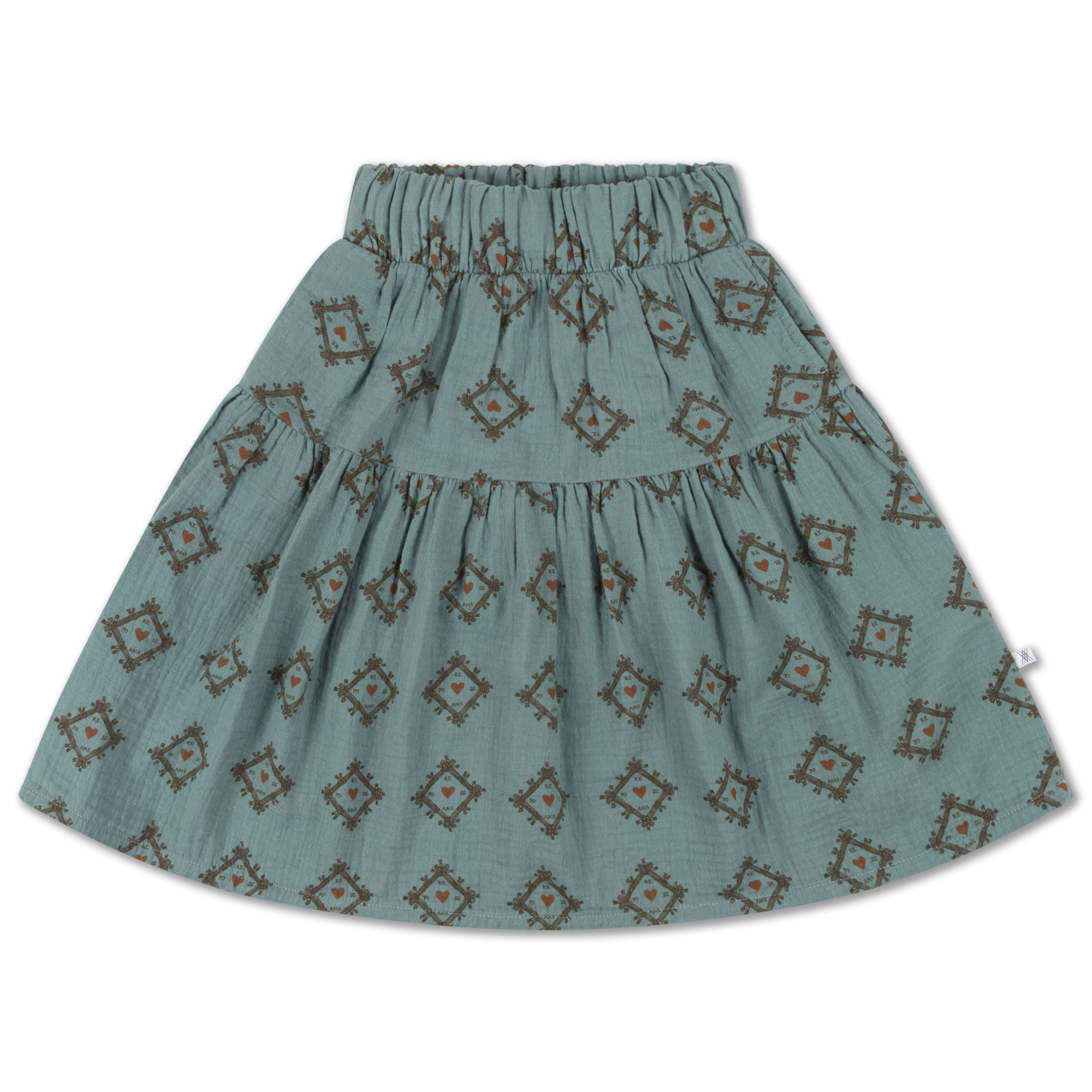 Repose AMS - Midi Skirt tiles heart all over